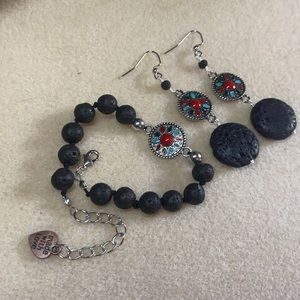 Lava earring and bracalent